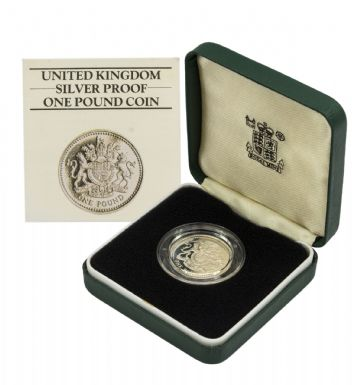 1983 Silver Proof Piedfort One Pound